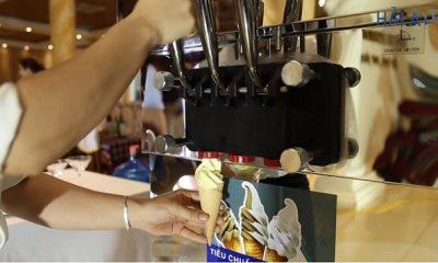 Máy làm kem tươi hiện đại giá thấp và làm kem ngon