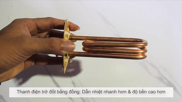 Thanh điện trở đun nóng bằng đồng dẫn nhiệt nhanh hơn và độ bền cao hơn